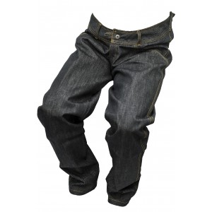 Pánské jeansy zateplené černý melír 1