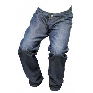 Pánské jeansy zateplené modrý melír 5