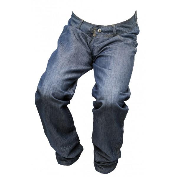 Dámské jeansy zateplené modrý melír 5