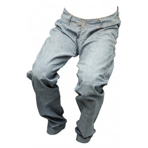 Pánské jeansy zateplené modro-šedé 3