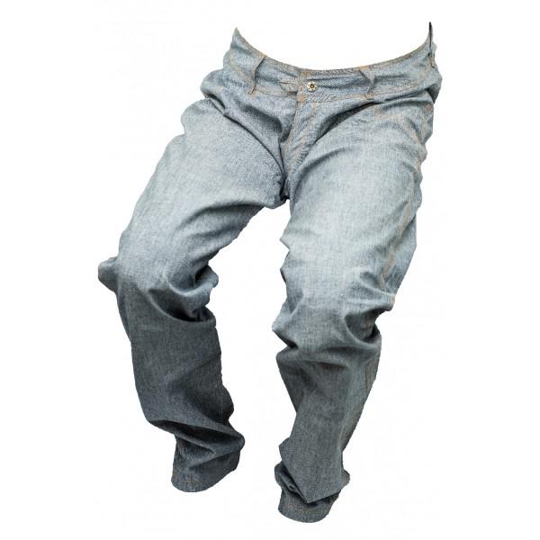 Dámské jeansy zateplené modro-šedé 3