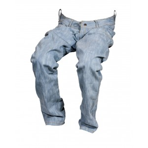 Pánské jeansy zateplené světle modré 4