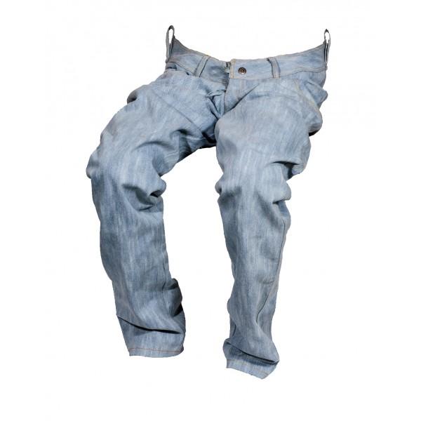 Dámské jeansy zateplené světle modré 4