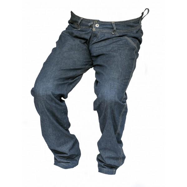Pánské jeansy zateplené tmavě modré 6