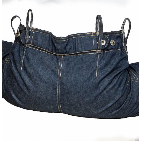 Dámské jeansy zateplené tmavě modré 6