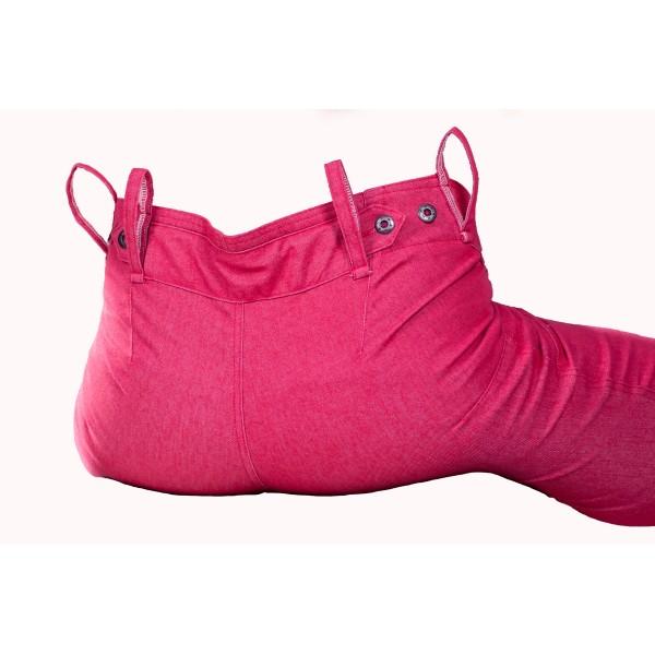 Pánské kalhoty zateplené červeno-růžové