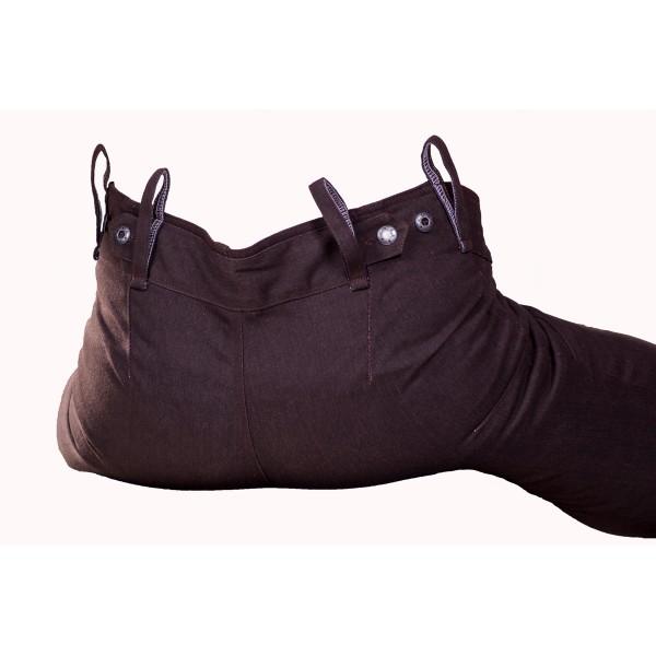 Pánské kalhoty zateplené hnědé