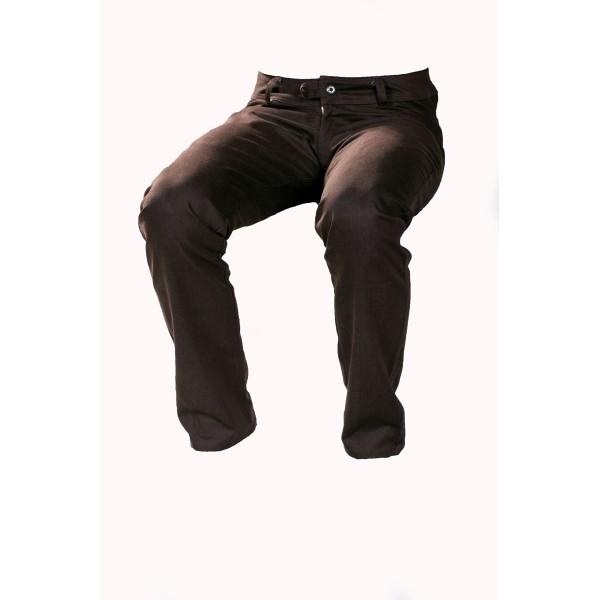 Dámské kalhoty zateplené hnědé