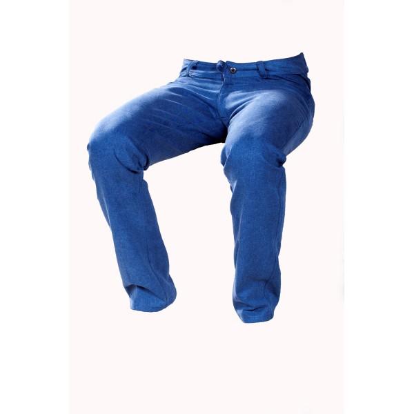 Dámské kalhoty zateplené modré