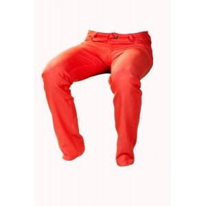 Pánské kalhoty zateplené oranžové
