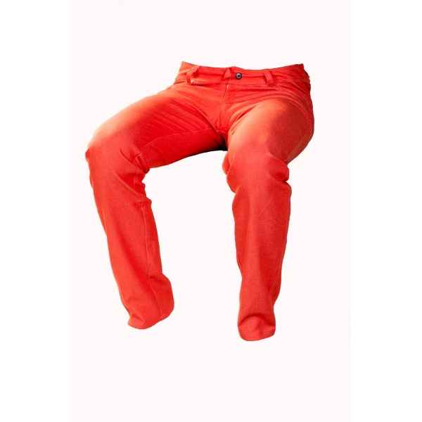 Pánské kalhoty oranžové