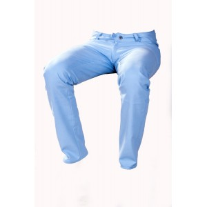 Pánské kalhoty zateplené světle modré