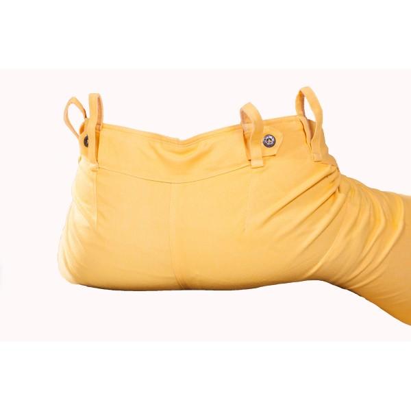 Pánské kalhoty zateplené žluté