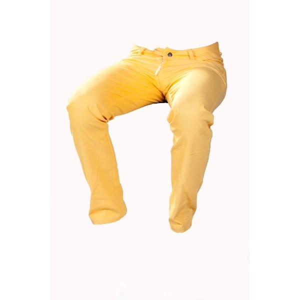 Dámské kalhoty zateplené žluté