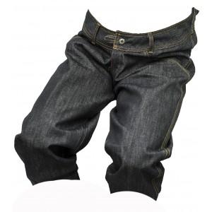 Pánské kraťasy jeans 3/4 černý melír 1