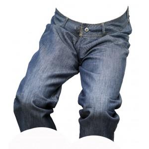 Dámské kraťasy jeans 3/4 modrý melír 5