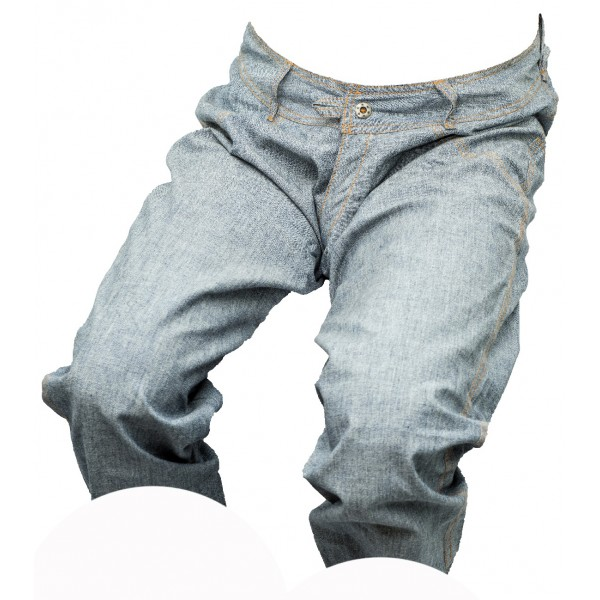 Pánské kraťasy jeans 3/4 modro-šedé 3