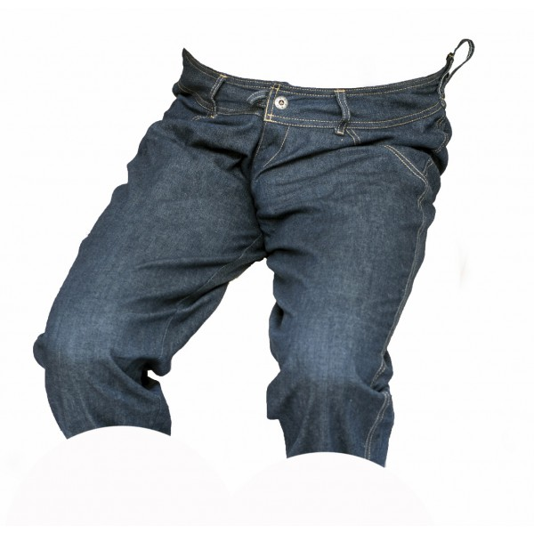Pánské kraťasy jeans 3/4 tmavě modré 6