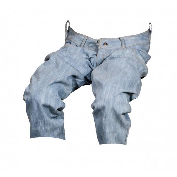 Dámské kraťasy jeans 3/4 světle modré 4