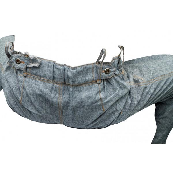 Dámské kraťasy jeans modro-šedé 3