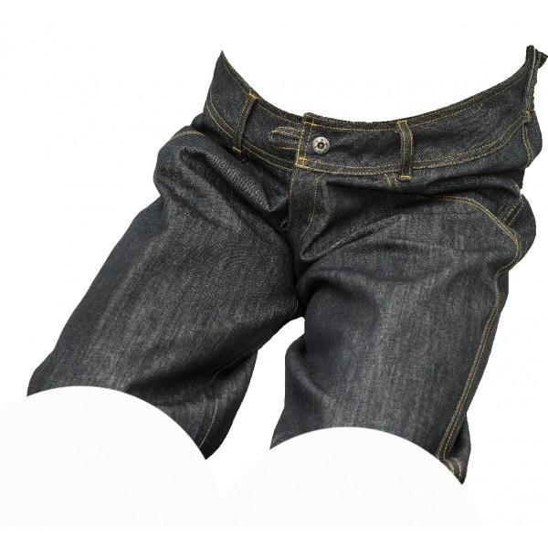 Pánské kraťasy jeans černý melír 1