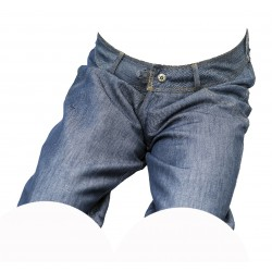 Dámské kraťasy jeans modrý melír 5