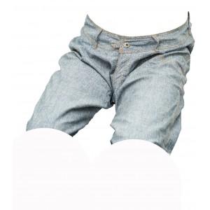 Pánské kraťasy jeans modro-šedé 3