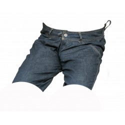 Dámské kraťasy jeans tmavě modré 6