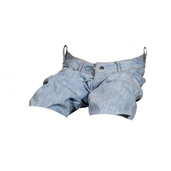 Pánské kraťasy jeans světle modré 4