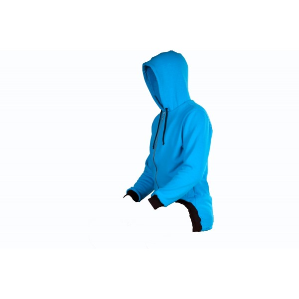 Pánská mikina se zipem modrá