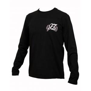 Pánské triko s dlouhým rukávem černé