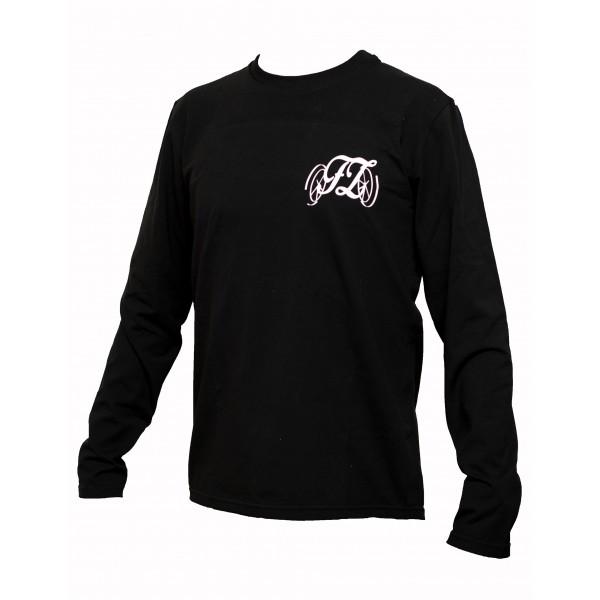 Dámské triko s dlouhým rukávem černé