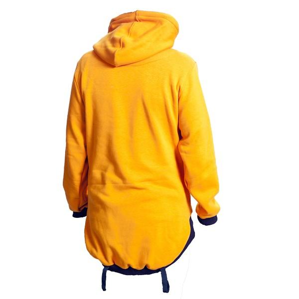 Pánská mikina přes hlavu žlutá
